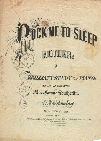 """Rock me to sleep, mother"" 1863"