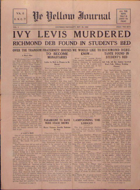 Yellow Journal. 1934 November 29.