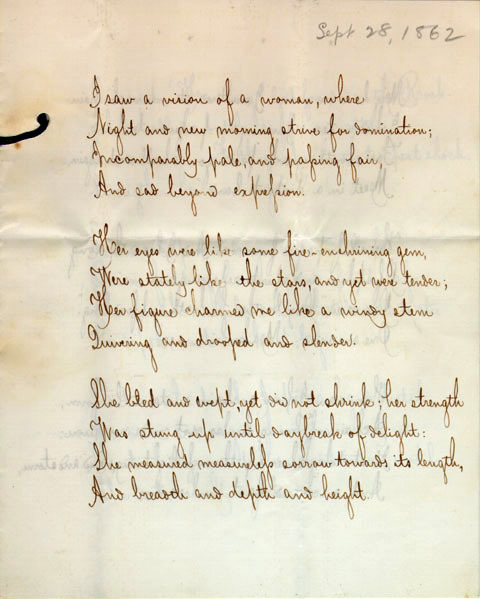 Untitled poem by unidentified poet, 1862