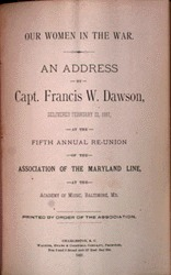 Address by Francis W. Dawson, 1887
