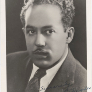 Langston Hughes photograph