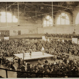Photograph of boxing tournament in Memorial Gymnasium. No date.