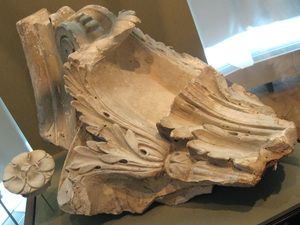 Capital fragment from Stanford Whites Rotunda reading room, 1897