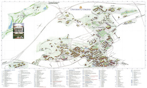 Map of U.Va. Grounds, 2009