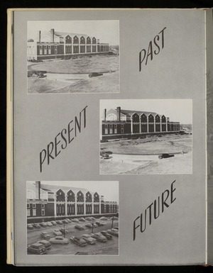 """Past, Present, Future"" image of Memorial Gymnasium"