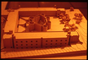 Model of Kahn's proposed Chemistry building
