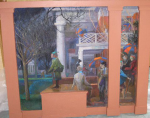 Maquette for Old Cabell Hall mural, 2006