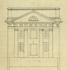 Front elevation of Pavilion X, ca. 1819