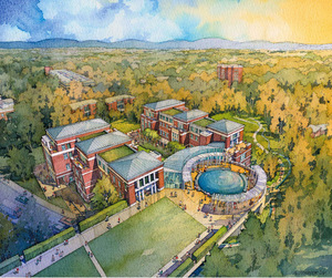 Rendering of the South Lawn Project, 2006
