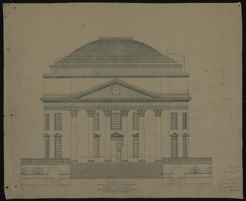South elevation of the Rotunda Restoration