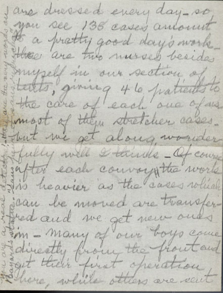 Autograph letters, signed. Ella Katherine Fife to her parents. 1918 October 28 and November 11.