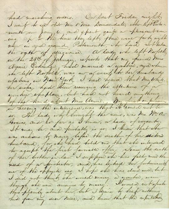Neville letter, 1864
