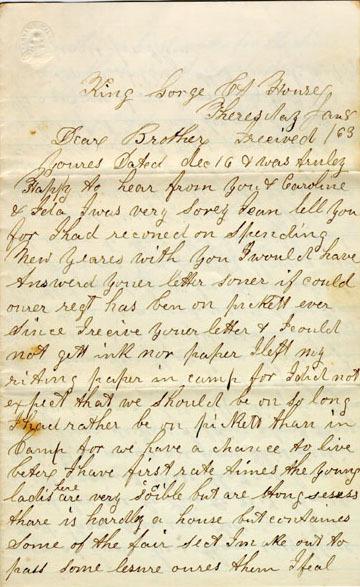 Cowles letter, 1863