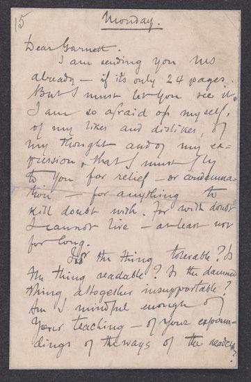 Joseph Conrad, Letter to Edward Garnett, 13 April 1896.
