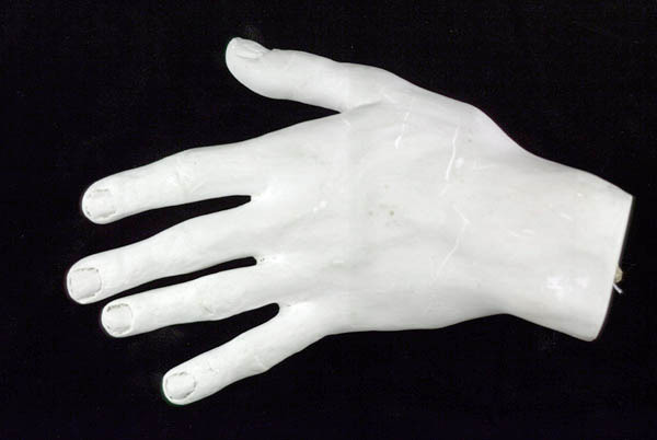 Plaster cast of John Powell's hand. No date.