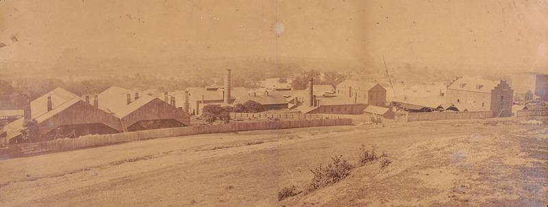 Photograph of the Tredegar Iron Works, Richmond, Va., 1865.