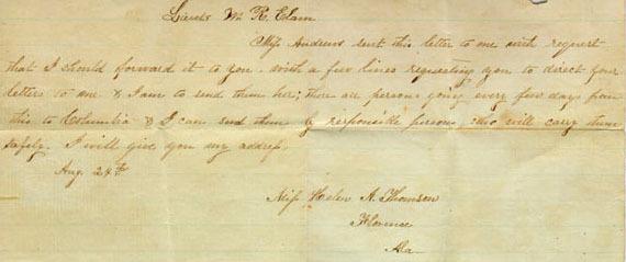 Letter from Helen Thompson