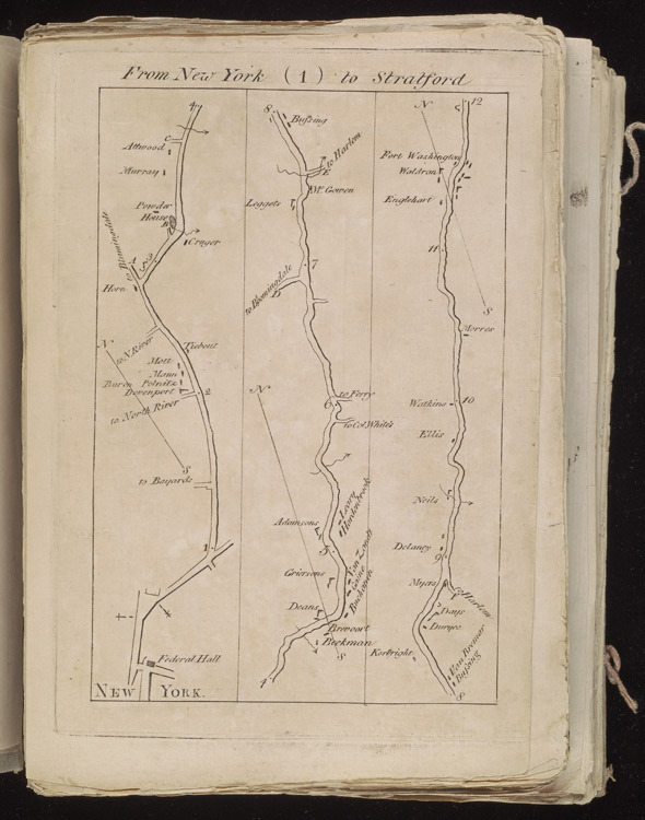 Christopher Colles, A survey of the roads of the United States of America, 1789.