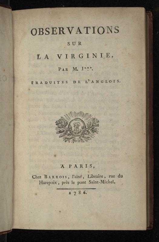 Observations sur la Virginie par M. J***.