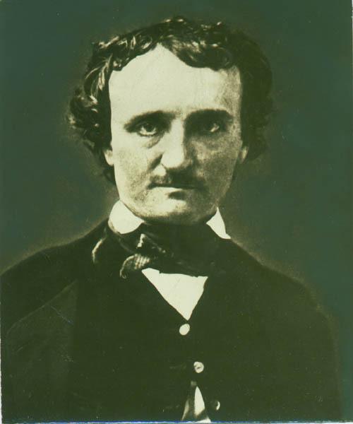 Photograph of daguerrotype of Edgar Allan Poe. 1848.
