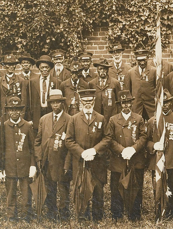 Detail, Photograph of a Grand Army of the Republic reunion, Norfolk, Va., ca. 1910.
