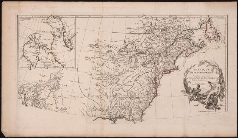Amérique Septentrionale. Anville. 1746