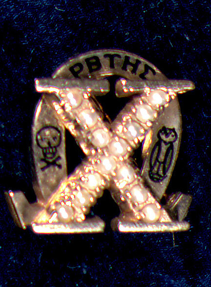 Sorority Pin. Chi Omega Sorority. ca. 1991.