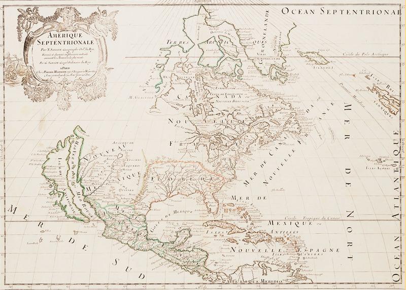 """Nicolas Sanson. """"Amérique Septentrionale."""" 1669."""