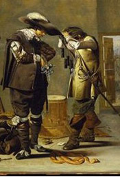 Oil painting of Soldiers Arming Themselves