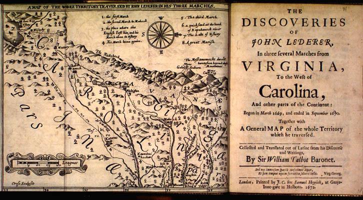 John Lederer. The Discoveries of John Lederer