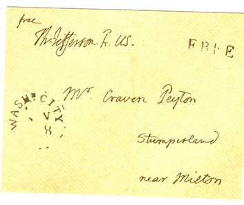 Facsimile Jefferson letter envelope