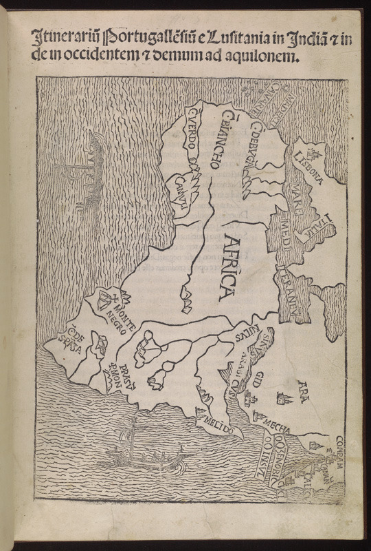 Fracanzano da Montalboddo, Itinerariu[m] Portugalle[n]siu[m] e Lusitania in India[m] [et] inde in occidentem [et] demum as aquilonem, 1508.