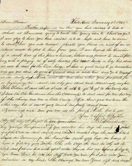 Hill Family letter, 1865