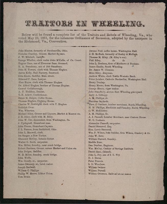 Traitors in Wheeling. [Virginia, 1861]