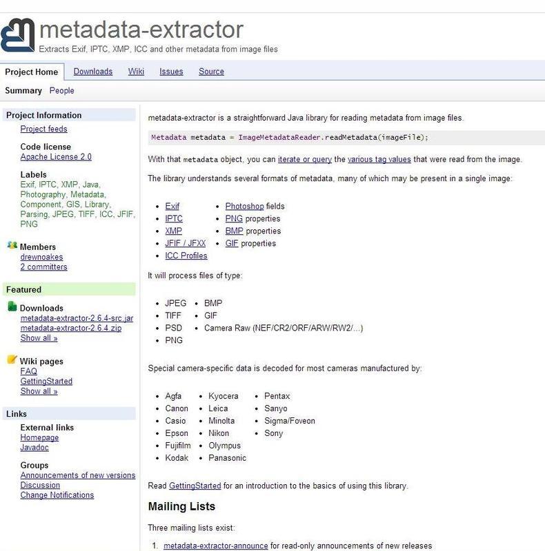 Metadata Extraction Tool