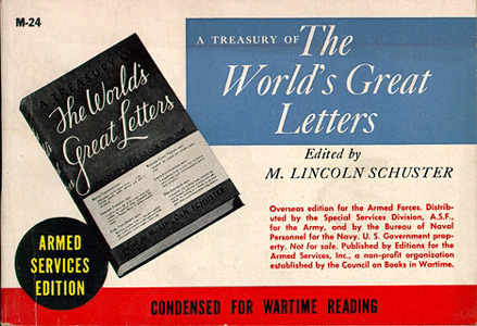 M. Lincoln Schuster, ed. A Treasury of the World's Great Letters
