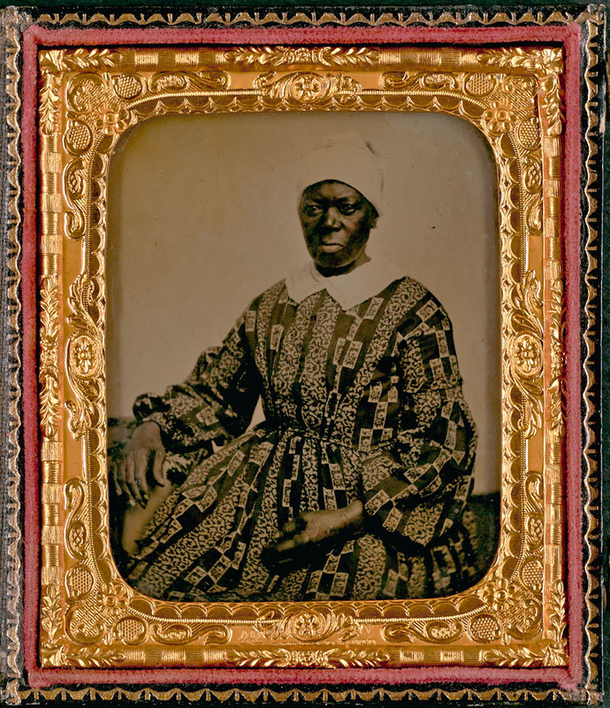 "Ambrotype of ""Mammy Kitty,"" [before 1865]"