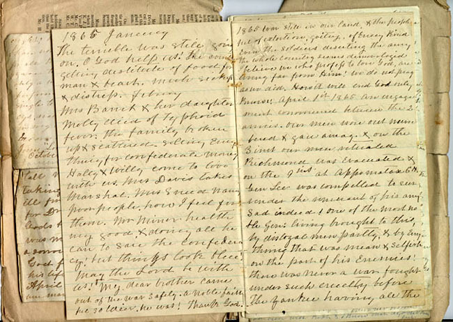 Mary Ann Swann Minor diary, 1865