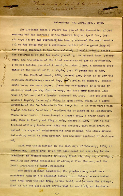 Morrison typescript, 1903