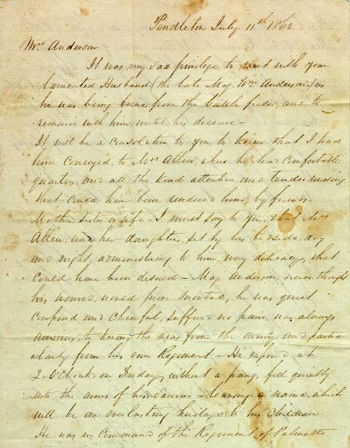 William Anderson Civil War Letters, #10366