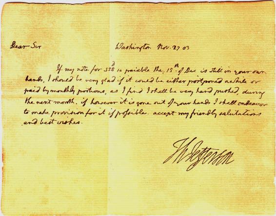 Facsimile Jefferson letter