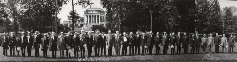 Holsinger's Studio, Photograph of University of Virginia Confederate alumni, 11 June 1912.