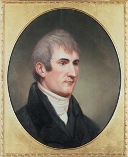 Portrait of Meriwether Lewis by Charles Willson Peale, ca 1807.