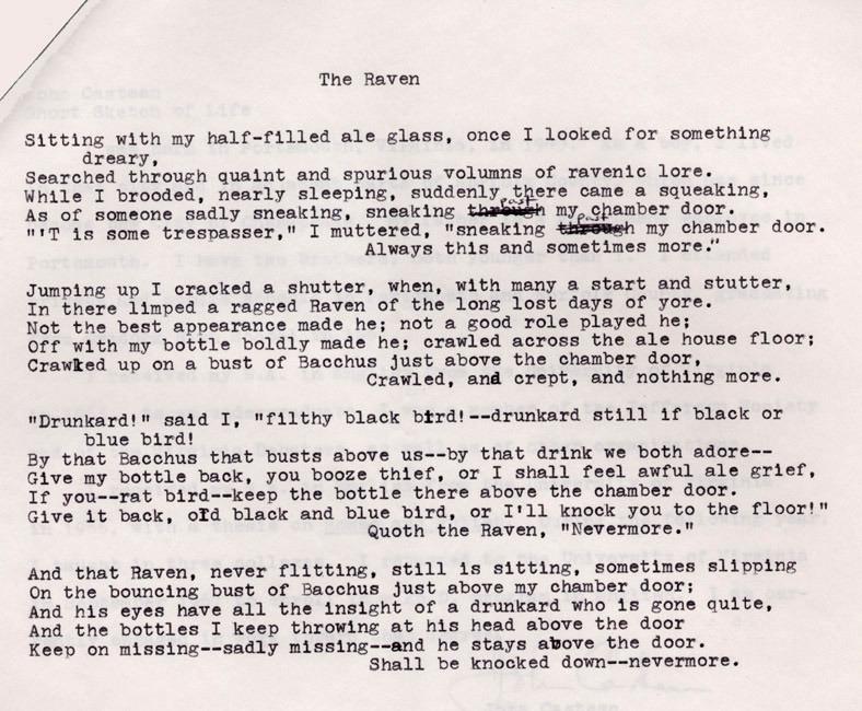 Poem. Raven Society. 1969.