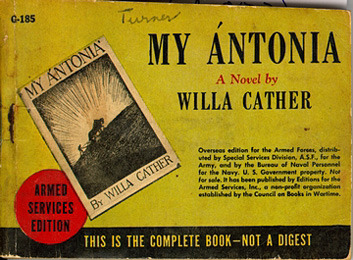 Willa Cather. My Antonia. worn