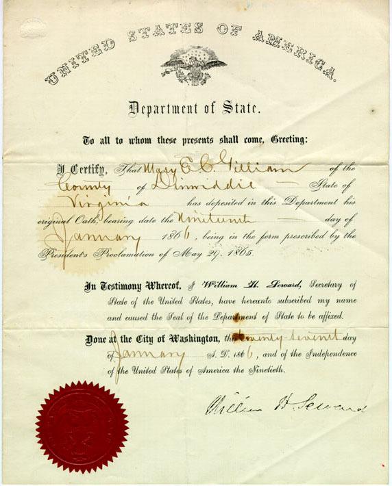Gilliam pardon, 1866