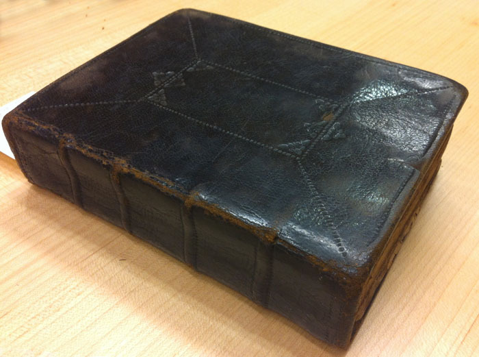 Volume bound by John Ratcliff for Increase Mather, ca. 1680.