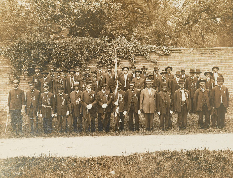 Photograph of a Grand Army of the Republic reunion, Norfolk, Va., ca. 1910.