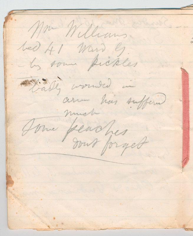 Walt Whitman, Notebook kept in hospital, ca. 1863-1865.