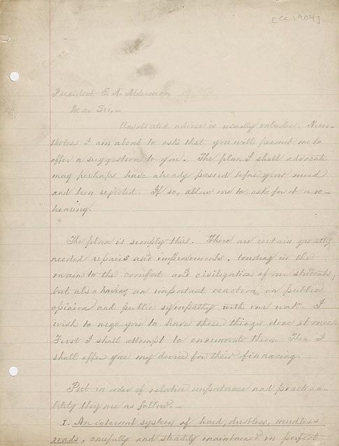 Autograph letter. William M. Thornton to President E.A. Alderman. ca. 1904.